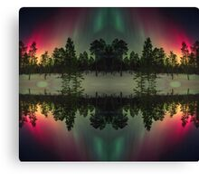 Stripes of northern lights Canvas Print