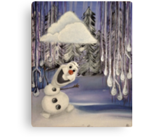 Frozen Concept Art | Olaf's Flurry  Canvas Print