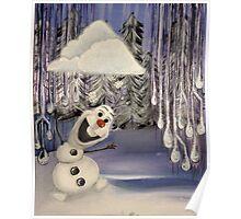 Frozen Concept Art   Olaf's Flurry  Poster
