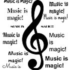 Music is magic all over by JoAnnFineArt