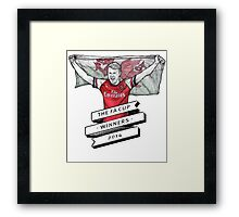 Ramsey FA cup winners Framed Print