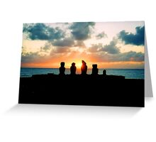 Sunset - Easter Island, Chile Greeting Card