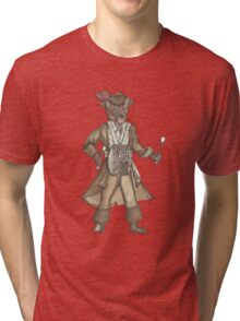 Red Feather Piarte Drummer Cat Tri-blend T-Shirt