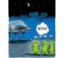 Aliens Lose their Keys in Roswell, NM and stranded Photographic Print