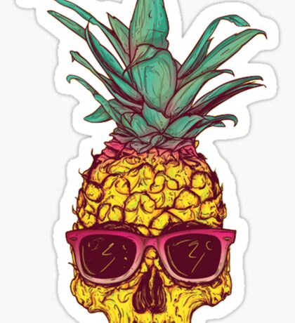 Skull Pineapple Sticker
