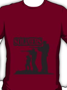 Soldiers squad army shooting fighting T-Shirt