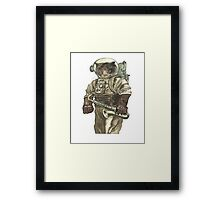 Space Cat with Saxophone Framed Print