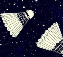 Space Shuttlecock Sticker