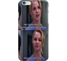 Grey's Anatomy - Calories Don't Count iPhone Case/Skin