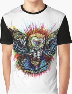 Color Barn Owl Graphic T-Shirt