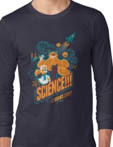 Science!!! It Knows Stuff! (blue) Long Sleeve T-Shirt
