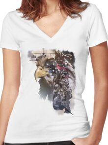 Air Force Combat Commandos Women's Fitted V-Neck T-Shirt