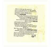 Thompsons Typewriter Art Print