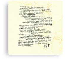 Thompsons Typewriter Metal Print