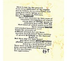 Thompsons Typewriter Photographic Print