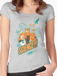 Science!!! It Knows Stuff! Women's Fitted Scoop T-Shirt