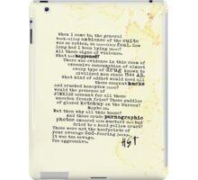 Thompsons Typewriter iPad Case/Skin