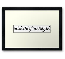 Mischief Managed Script Framed Print