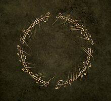The One Ring Inscription by MrGreed