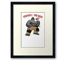 The Hero is The Rock Framed Print