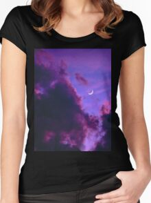 Purple Sunset Women's Fitted Scoop T-Shirt