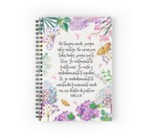 Isaias 41:10 (Flowers and Butterflies) Spiral Notebook