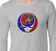 Grateful Dead Skiing Bear Long Sleeve T-Shirt