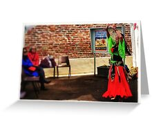 Only the lonely dance flamenco....... Greeting Card