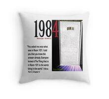 1984 OBrien explains Room 101 Throw Pillow