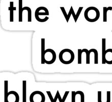 Bombs Black Sticker