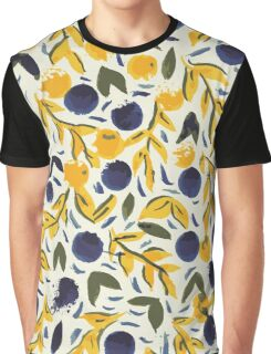 Dots Dots Leaves Leaves Graphic T-Shirt