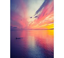 Sunset  and Ocean Photographic Print