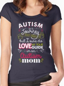 Autism Is A Journey I Never Planned For But I Love My Guide Women's Fitted Scoop T-Shirt