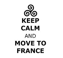triskelion Isaac Lahey Keep Calm and Move to France by lovefromlahey