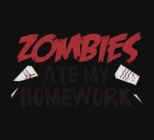 Zombies Ate My Homework Kids Tee