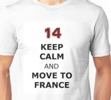 Isaac lahey Keep Calm and Move to France Unisex T-Shirt