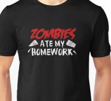 Zombies Ate My Homework Unisex T-Shirt