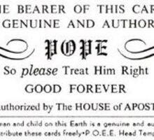 Pope Card Sticker
