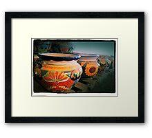 Mexican Pots Framed Print