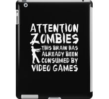 Attention Zombies iPad Case/Skin