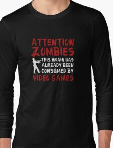 Attention Zombies Long Sleeve T-Shirt