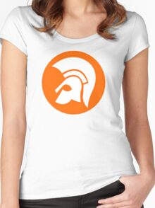 TROJAN RECORDS GIFT LOGO Women's Fitted Scoop T-Shirt