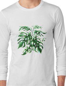 Monstera Deliciocia Foliage Plant Long Sleeve T-Shirt
