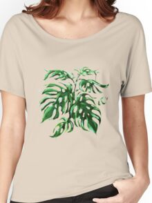 Monstera Deliciocia Foliage Plant Women's Relaxed Fit T-Shirt