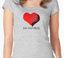 End child abuse Women's Fitted Scoop T-Shirt