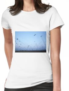 Common crane (Grus grus). Womens Fitted T-Shirt