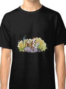 Calvin And Hobbes mapping Classic T-Shirt