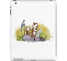 Calvin And Hobbes mapping iPad Case/Skin