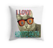I Love Augmented Reality Cat Throw Pillow