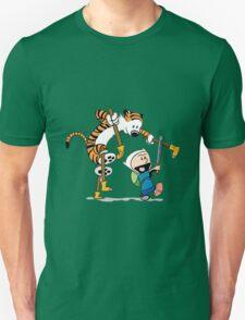 hobbes and calvin time advanture Unisex T-Shirt
